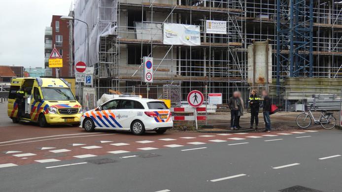 De fietser raakte gewond bij een aanrijding op de Tuinstraat in Veenendaal.