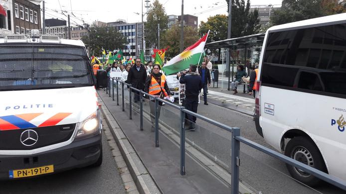 Koerden demonstreren in Arnhem.