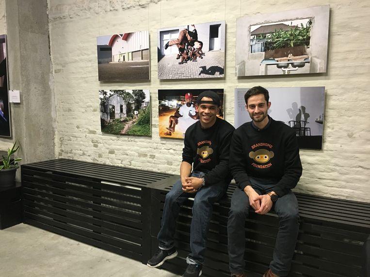 Stephan en Raf in de expo bij Atlas.