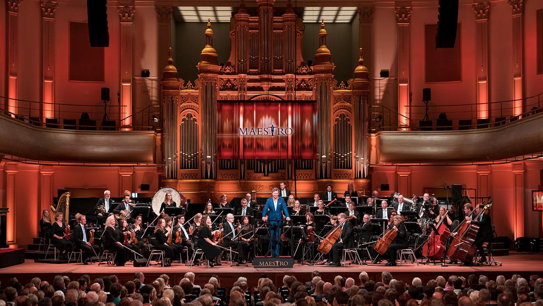 'Maestro' wordt opgenomen in de Philharmonie in Haarlem.