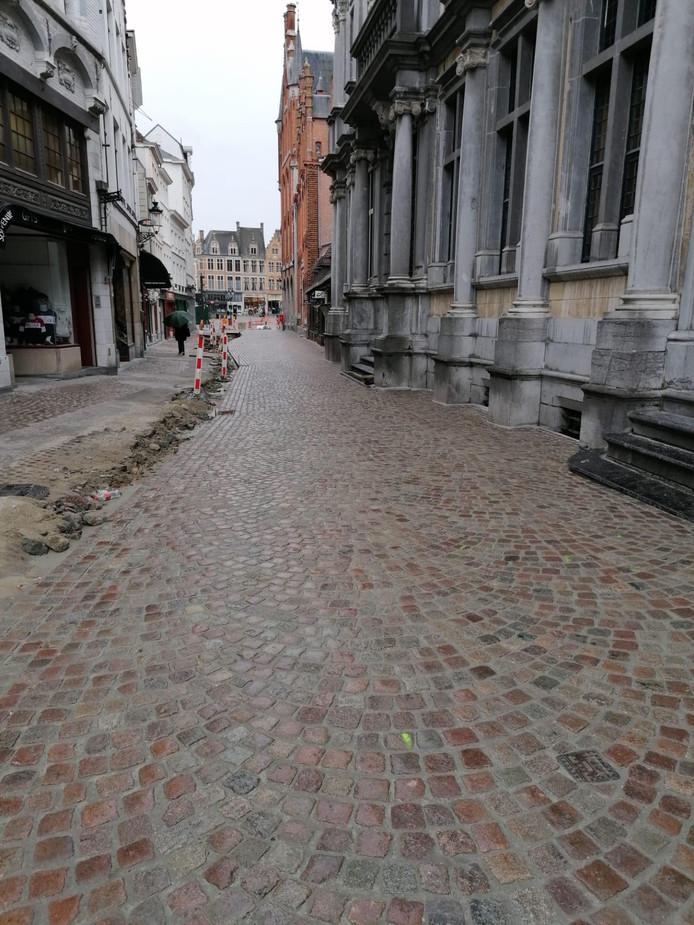 Ook de Breidelstraat is nog niet afgewerkt.
