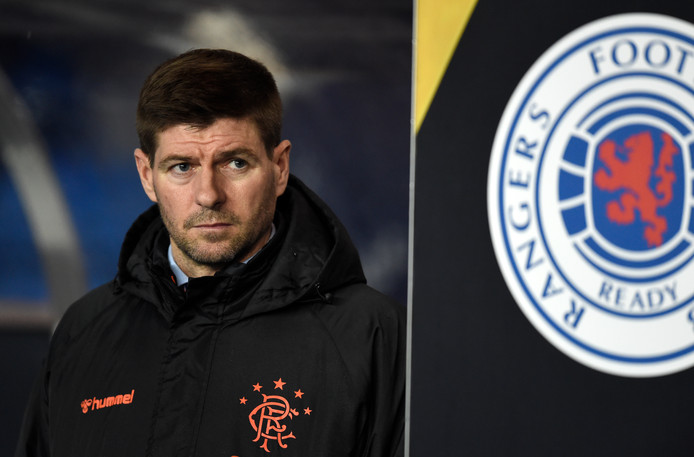 Rangers manager Steven Gerrard during the UEFA Europa League match at Ibrox, Glasgow.