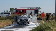 Franse bestuurder ziet auto uitbranden in Oosthoekstraat