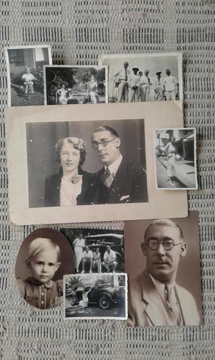 Foto's van toen. Rechtsonder vader Bert, linksonder Freeks zusje.