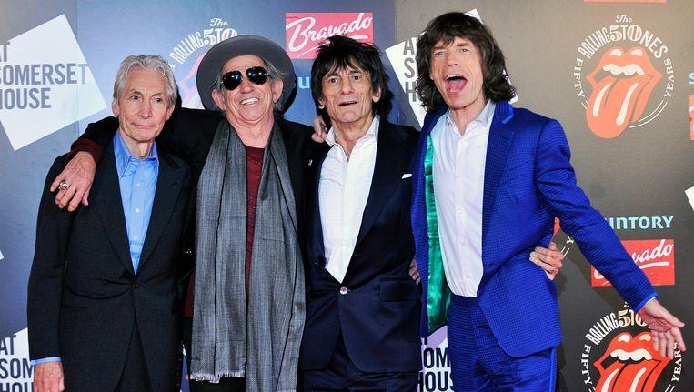 The Rolling Stones in juli vorig jaar. Beeld EPA