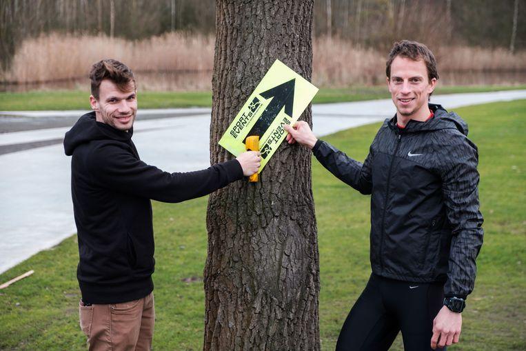 Maarten De Bolster en Wouter Vander Mast van Sportevents organiseren dit weekend voor het eerst een trailrun in De Schorre.