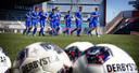 De spelers van FC Den Bosch tijdens de eerste training, nog zonder de vele nieuwkomers.