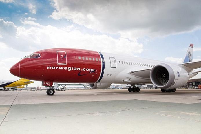 De Boeing 787-9 Dreamliner van de Noorse luchtvaartmaatschappij.