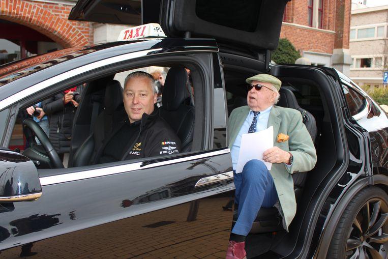 Zaakvoerder Xavier Goossens nam burgemeester Lippens mee voor een ritje