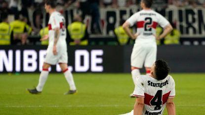 Football Talk. Stuttgart flirt met degradatie na eerste barragematch - Vanderhaeghe riskeert twee duels schorsing
