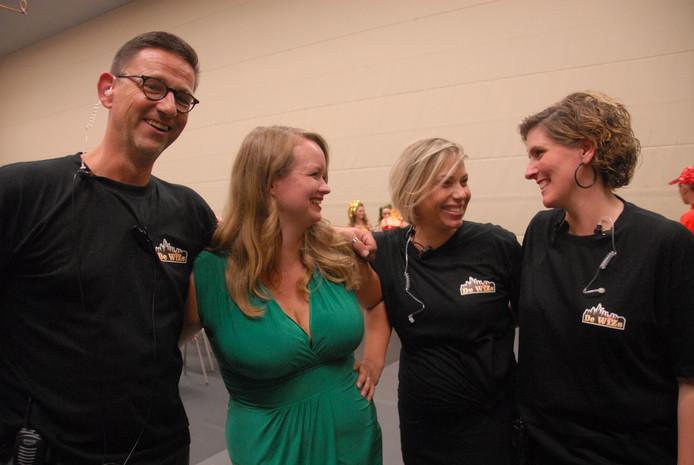 Het productieteam: Geert-Jan van den Heuvel, Peggy Wiilemsen, Colette den Herder en Sanne Adhin