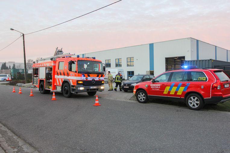 De brandweer kwam ter plaatse bij De Kempense Steenkapper.