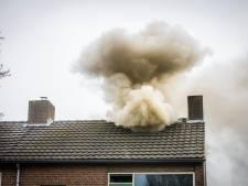 Veel rookontwikkeling door zolderbrand in Nuenen