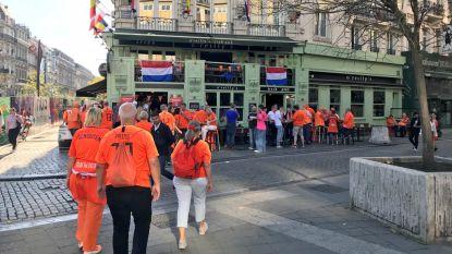 """LIVE. """"België-Nederland is nooit een vriendschappelijke wedstrijd"""" - Brussels centrum kleurt Oranje"""