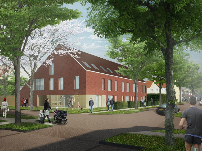 Een voorbeeld van hoe de nieuwe woningen in de Pollarewijk eruit zullen zien.