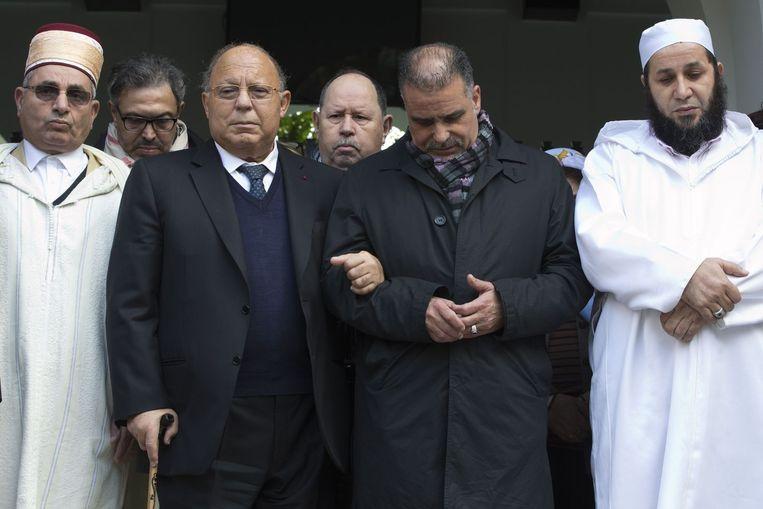 Herdenking bij de Grote Moskee in Parijs Beeld anp