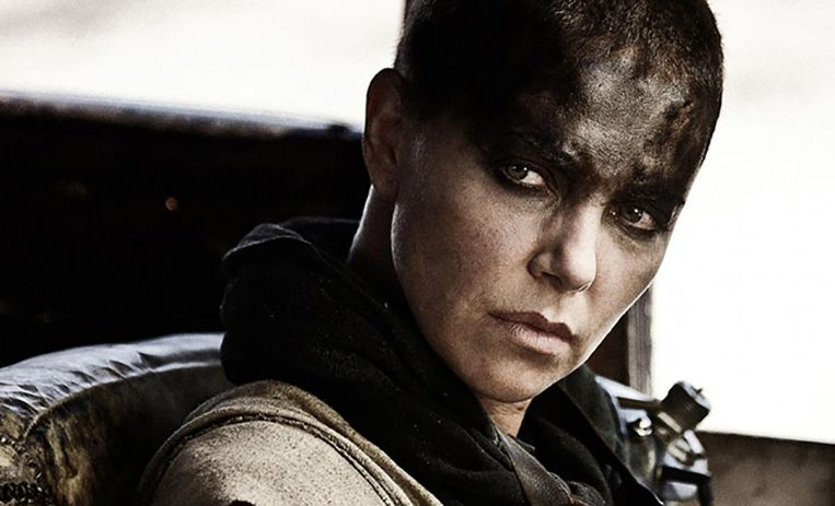 Charlize Theron als Imperator Furiosa in Mad Max: Fury Road. Beeld .