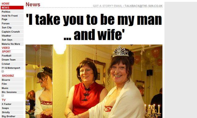 dc4ffebdf07095 Transseksuele lesbiennes trouwen: