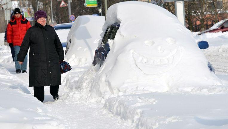 Sneeuw in Kiev Beeld afp