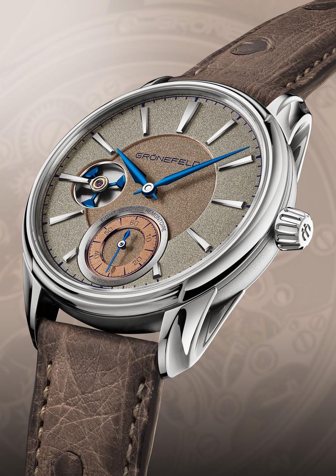 Het horloge Remontoire For Ony van de gebroeders Grönefeld uit Oldenzaal leverde tijdens een veiling voor het goede doel in Zwitserland liefst 63.000 euro op.