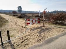 Fietspad bij Radio Kootwijk is verdwenen