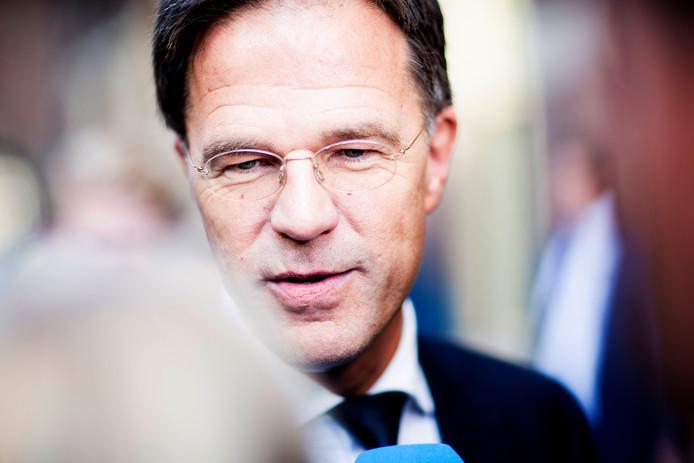 Premier Mark Rutte na de wekelijkse ministerraad.
