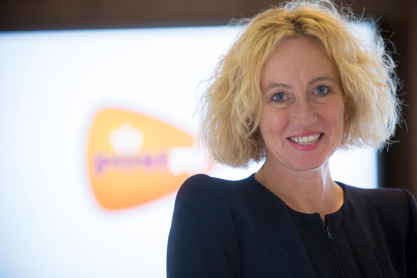 Herna Verhagen, ceo van PostNL. Het postbedrijf doet het goed qua aantal vrouwen op hoge managementposities.