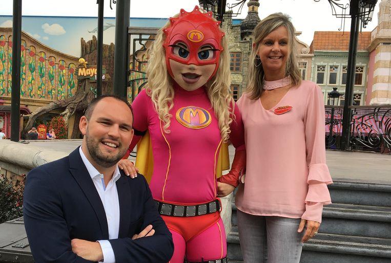 Dieter Bruneel van Neptunus Pro en Nathalie Van Geluwe van Plopsaland zijn tevreden over de succesvolle voorverkoop