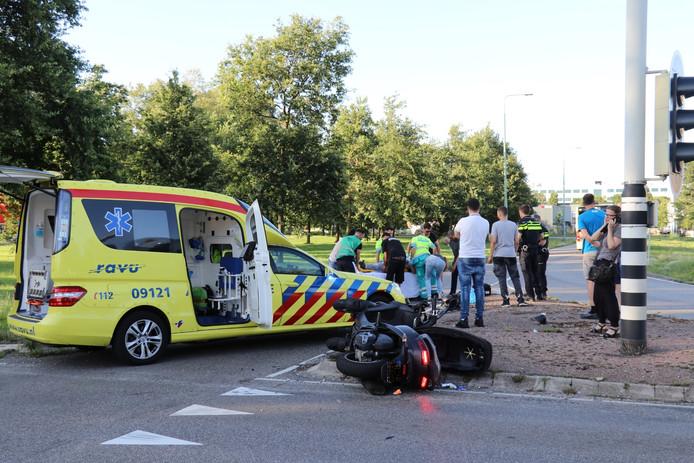 De motorrijder werd overgebracht naar het ziekenhuis