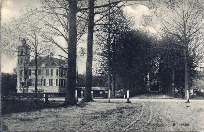 Kasteel Bouvigne aan de noordoostelijke bosrand, omstreeks 1910.
