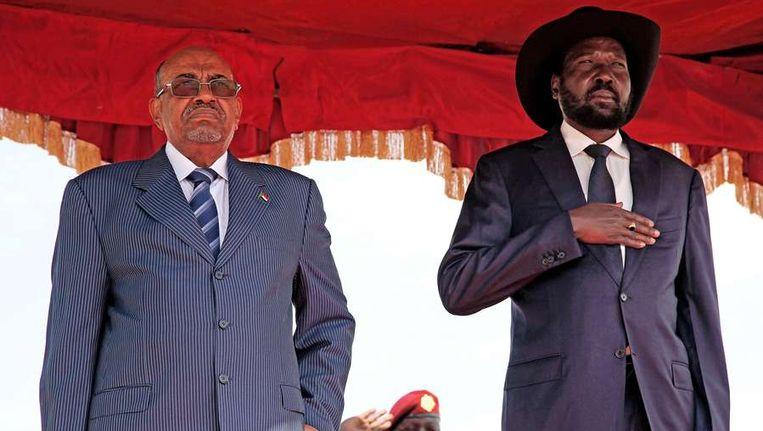 De presidenten Omar al-Bashir (links) en Salva Kiir.