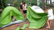 Pop-upcamping met animatie, BBQ en film op dijk in Zandvliet