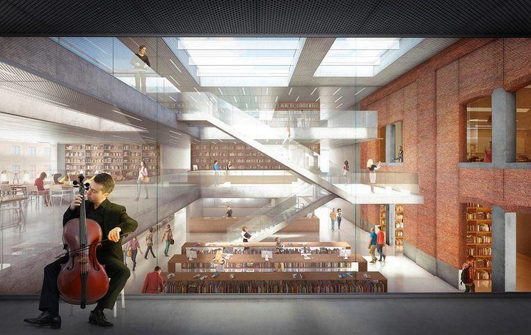 Hoe Utopia er van binnen uitziet weten we pas in juni, voorlopig moeten we het doen met deze toekomstbeelden van architecten.