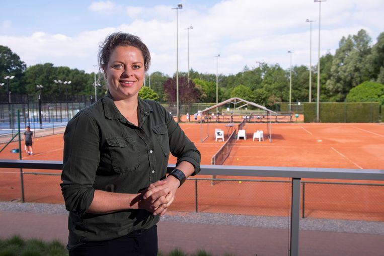 Kim Clijsters op haar tennisacademie in Bree.