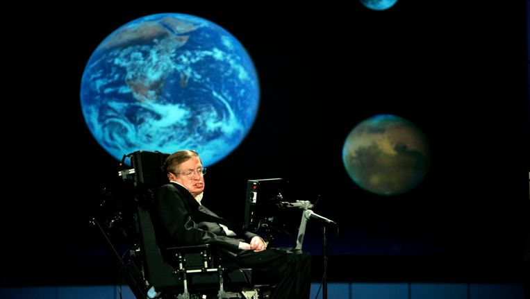 Stephen Hawking in 2008. Beeld epa