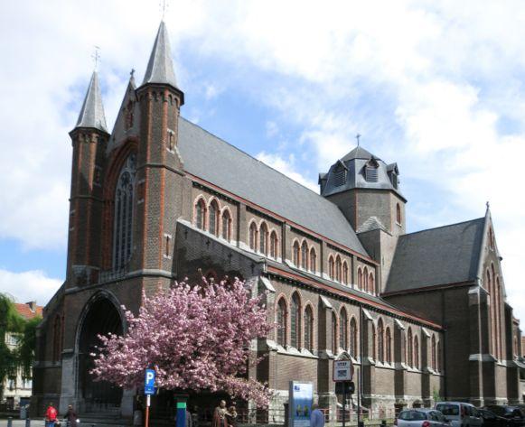 De Sint-Jozefkerk in de Wondelgemstraat.