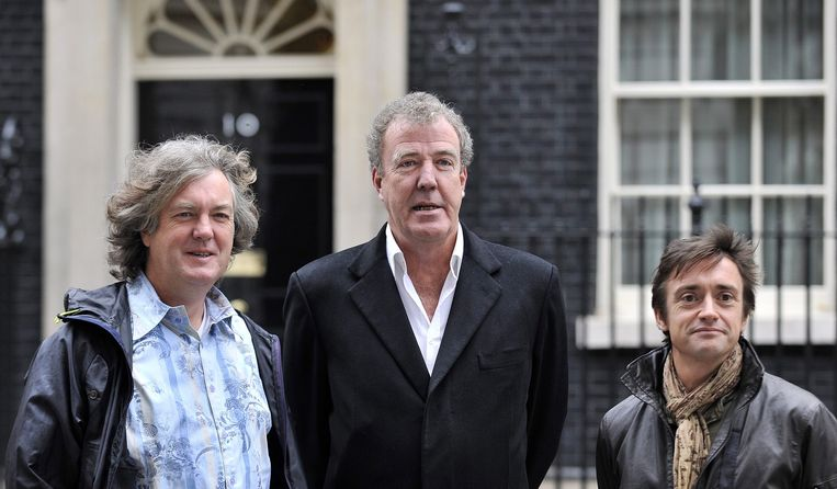 Het Top Gear-team. Van links naar rechts: James May, Jeremy Clarkson en Richard Hammond. Beeld anp