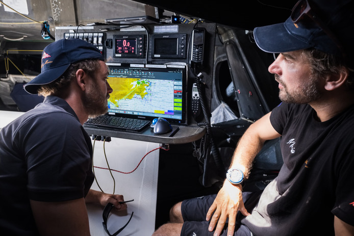 Pierre Casiraghi et Boris Herrmann à bord du Malizia II