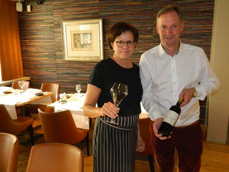 Inge Herteleer en Lieven Bouckaert in restaurant Den Duyventooren.