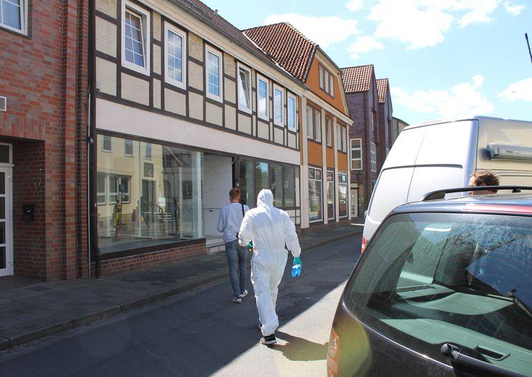 De flat in Wittingen waar twee dode vrouwen werden aangetroffen.