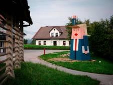 Eng en vrolijk kijkend houten Trump-beeld verdeelt dorp in Slovenië