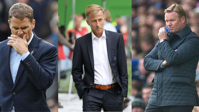V.l.n.r. Frank de Boer, Andries Jonker en Ronald Koeman. Beeld AFP / EPA