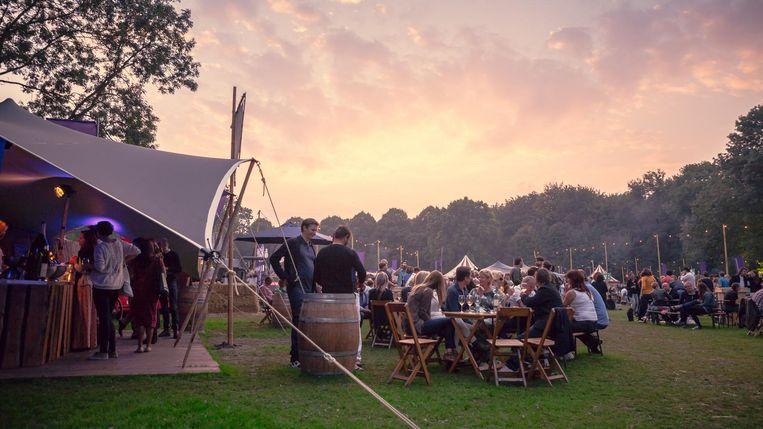 Het Bacchus Wijnfestival vindt plaats in het Amsterdamse Bos. Beeld Bacchus
