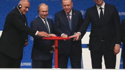 Poetin en Erdogan openen nieuwe aardgasleiding 'TurkStream'
