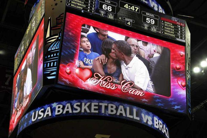 Michelle en Barack Obama op 16 juli 2012.