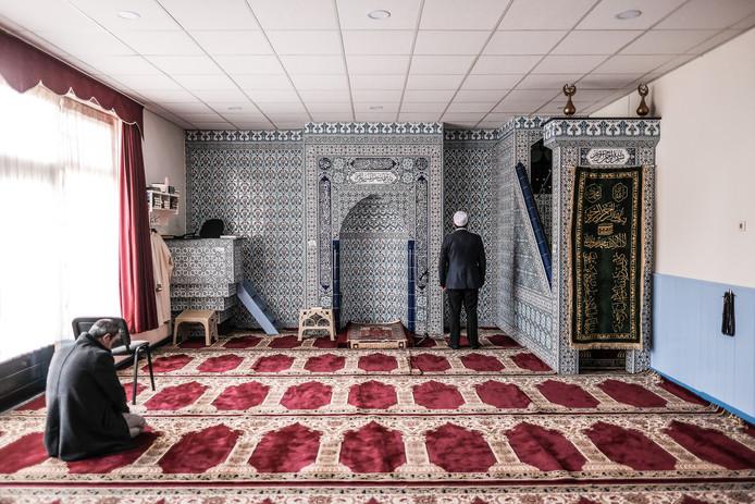 Gebedsruimte in een moskee, foto ter illustratie.
