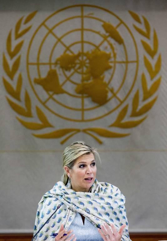 Maxima werkt dolgraag voor de Verenigde Naties