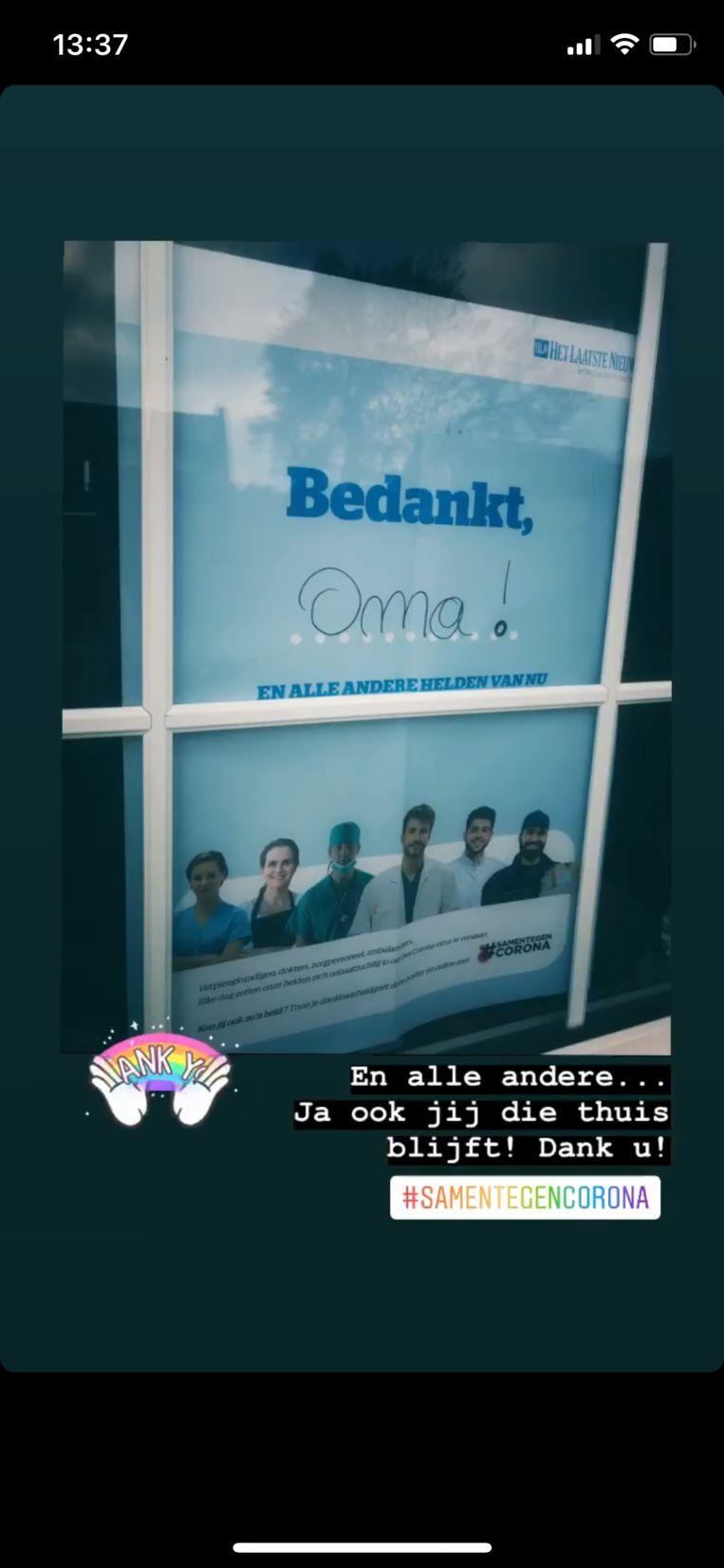 samentegencorona poster helden bedankt