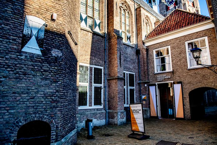 Exterieur van museum Prinsenhof Delft.