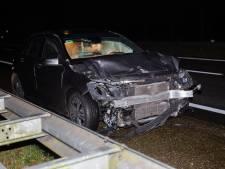 Ongeluk met twee auto's op A58 bij Rucphen, bestuurder gewond